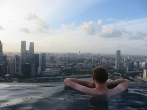 Infinity Pool im Marina Garden by the Bay