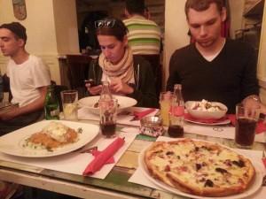 Abendessen in Belgrad