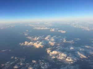Ausblick vom Flug nach Dehli