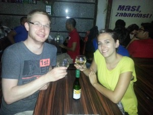 Weintrinken in Mumbai