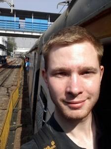 """Ich """"im"""" Zug in Mumbai"""