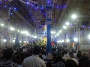 Basilika kurz vor der Mitternachtsmesse