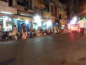 Nachts auf der Bui Vien Road