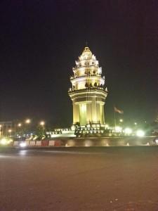 Phnom Penh in der Nacht