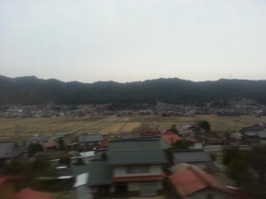 Bergige Landschaft auf dem Weg nach Takayama