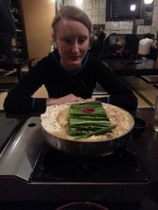 Lea beim Motsu Essen