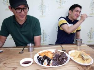 Mittagessen mit zwei Koreanern