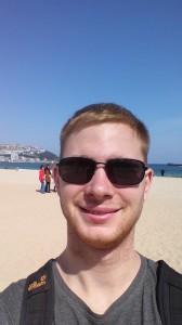 Ich - endlich wieder mal am Strand