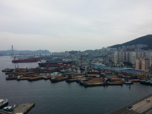 Blick auf einen Teile des Hafens