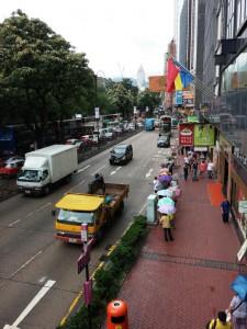 Hongkong - typisches Straßenbild
