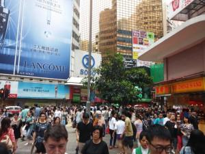 Volle Straßen in Hongkong