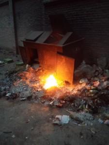 Einheimische Müllentsorgung