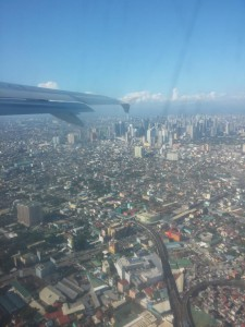 Flug über Manila