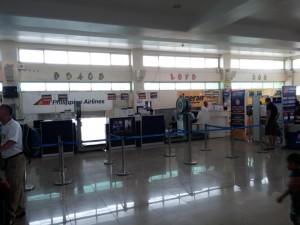 Flughafen Puerto Princesa - Gepäckbänder gibt es hier nicht