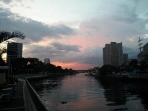Manila im Sonnenuntergang