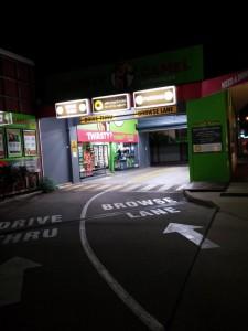 Alkoholverkaufsstelle mit Drive In