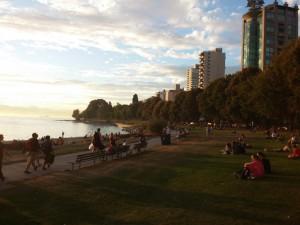 Stanley Park im Sonnenuntergang