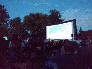 Open Air Kino im Stanley Park