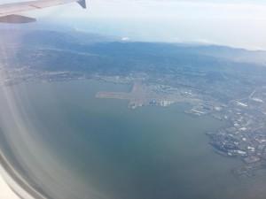 Der Flughafen SFO von oben