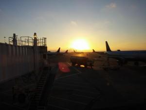 Morgens am Flughafen in SFO