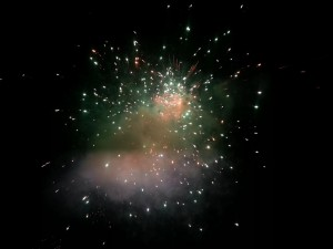 Silvesterfeuerwerk in Palolem