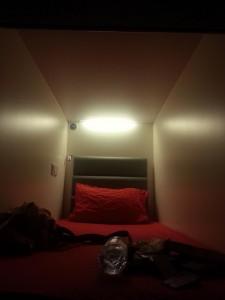 Mein Bett(wabe) im Hostel in Singapor