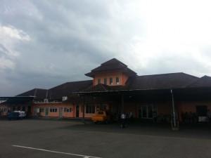 Das Flughafengebäude in Malang