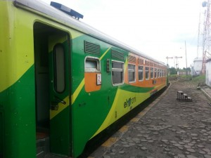Unser Zug nach Yogyakarta