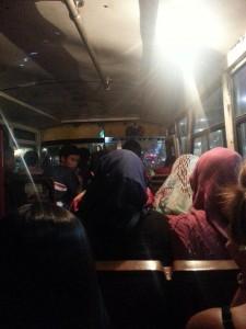 Abends im Minibus