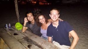 In der Beachbar mit Rhizlane und Ekkasit