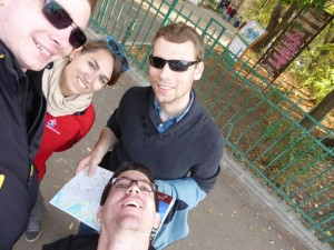 In einem der vielen Parks von Bukarest