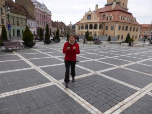 Sandra in Brasov in bester Laune :P