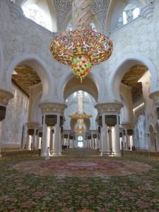 In der Scheich Zayed Moschee Abu Dhabi