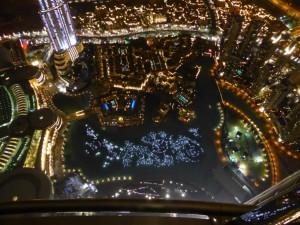 Die Wasserspiele betrachtet vom Burj Khalifa