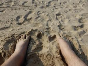 Endlich am Strand