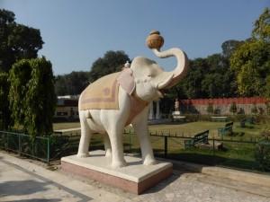 Elefant im Laxmi Narayan Birla Mandir Tempel