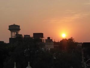 Sonnenuntergang in Mandawa