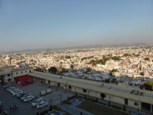 Blick auf Udaipur vom City Palace