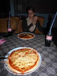 Abendessen - Pizza! :)