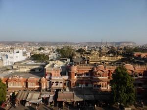 Blick auf die Pink City