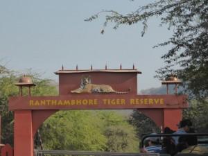 Einfahrt zum Nationalpark in Ranthambore