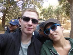 Sandra und ich auf Safari