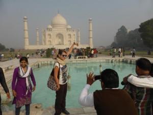 Sandra nimmt das Taj an der Spitze