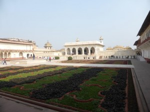 Im Agra Fort (rotes Fort)