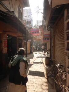 Die kleinen Gassen in Varanasi