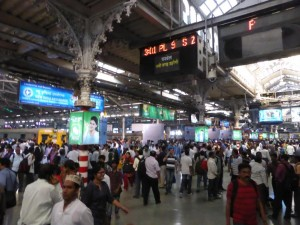 Bahnhof in Mumbai