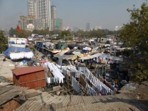 Wäschereiviertel in Mumbai
