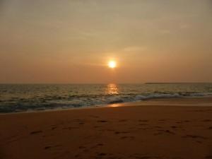 Sonnenuntergang in Kollam