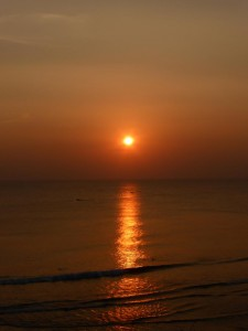 Sonnenuntergang in Verkala