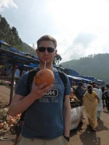 Orangene Kokosnuss